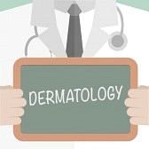 38197574-minimalistic-illustration-of-a-doctor-holding-a-blackboard-with-dermatology-text